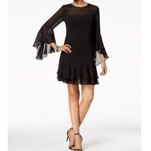 Vince Camuto clip-dots dress